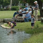 young and old fishing