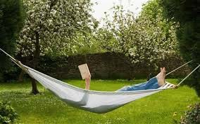 reading in the hammock
