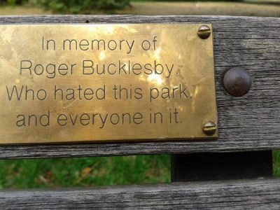bench dedication